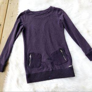 Calvin Klein Purple Pocket Tunic Sweater